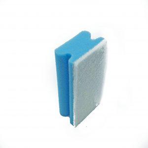 sponspad blauw/wit